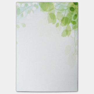 De Waterverf van de Bladeren van de lente Post-it® Notes
