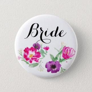 De Waterverf van de bruid bloeit Knoop Ronde Button 5,7 Cm