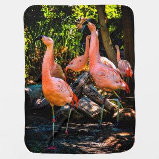 De Waterverf van de flamingo Inbakerdoek