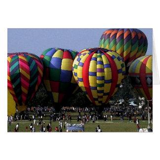 de waterverf van de hete luchtballon wenskaart