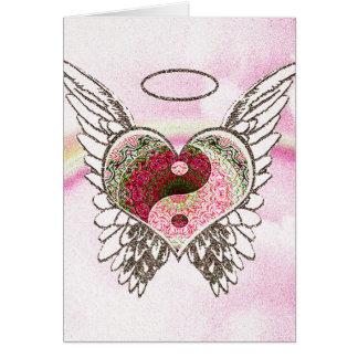 De Waterverf van de Vleugels van de Engel van het Briefkaarten 0