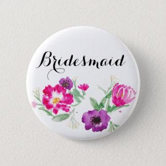 De Waterverf van het bruidsmeisje bloeit Knoop Ronde Button 5,7 Cm