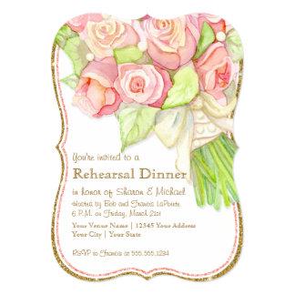 De Waterverf van het Diner van de repetitie nam de 12,7x17,8 Uitnodiging Kaart