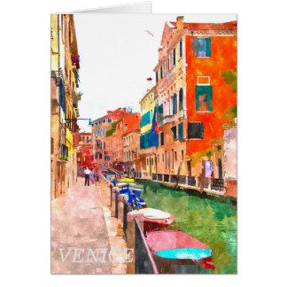 De waterverf van Venetië het schilderen groetkaart Briefkaarten 0