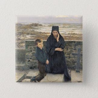 De weduwe van Ile DE Sein, 1880 Vierkante Button 5,1 Cm