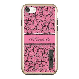 De weelderige Roze Lelies met zwart overzicht, Incipio DualPro Shine iPhone 8/7 Hoesje