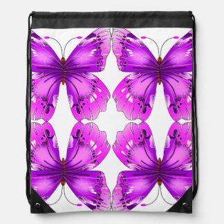 De weerspiegelde Vlinders van de Voorlichting Trekkoord Rugzakje