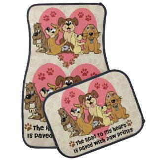 De weg aan Mijn Print van de Poot van de Hond van Auto Vloermat