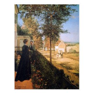 De weg van Versailles door Camille Pissarro Briefkaart