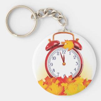 De Wekker Keychain van de herfst Sleutelhanger