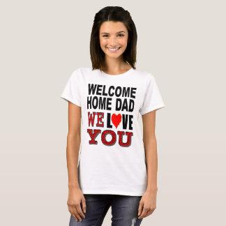 De welkom Papa van het Huis houden wij van u T Shirt