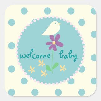 Welkom baby stickers - Baby boy versiering van de zaal ...