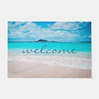 """De """"welkome"""" Foto van het Strand van Hawaï Aqua Deurmat"""