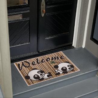 De Welkome Mat van het Bamboe van de panda