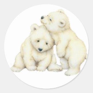 De Welpen van de Ijsbeer Ronde Sticker