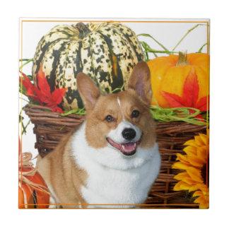 De Welse hond Corgi van Halloween Tegeltje