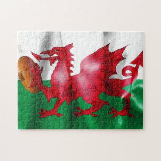 De Welse Vlag van de Bal van het Rugby van de Legpuzzel