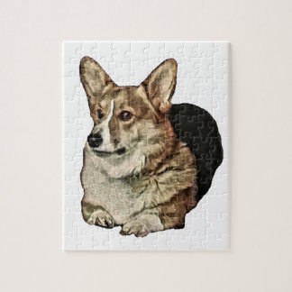 De Welse Zitting Corgi van Tricolor Legpuzzel