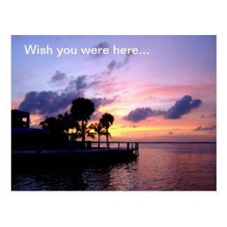 De wens u was hier… briefkaart