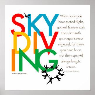 De Wens van Skydiving Poster