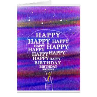 De wensen van de Ballon van de verjaardag Notitiekaart