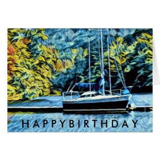 De Wensen van de Verjaardag van de Boot van het Briefkaarten 0