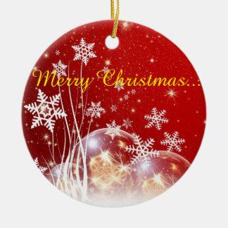 De wensen van Kerstmis Rond Keramisch Ornament