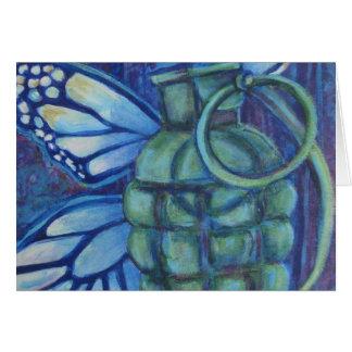 De Wenskaarten van de granaat en van de Vlinder