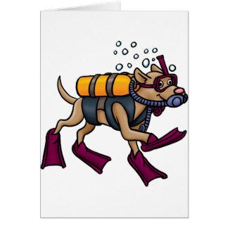 De Wenskaarten van de Hond van het vrij duiken
