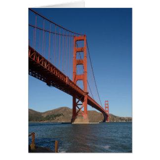 De Wenskaarten van golden gate bridge