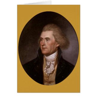 De wenskaarten van Thomas Jefferson van het