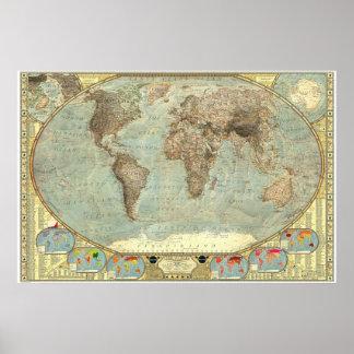 De wereld - de Kaart van Stereotypen Poster