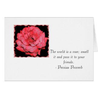 De wereld is toenam; ruik het en ga het over… briefkaarten 0