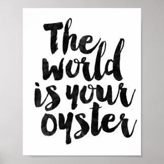 De wereld is Uw Oester Poster