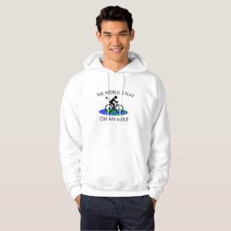 """De """"wereld is vlakke"""" hoodies voor man"""