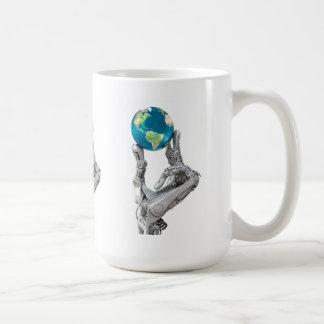 De wereld van de robot koffiemok
