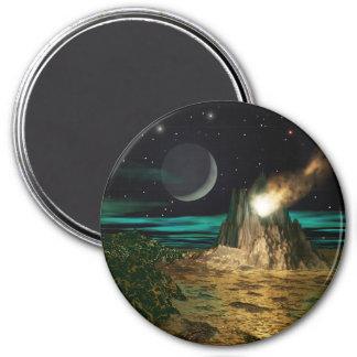 De Wereld van de Vulkaan van de planeet Magneet
