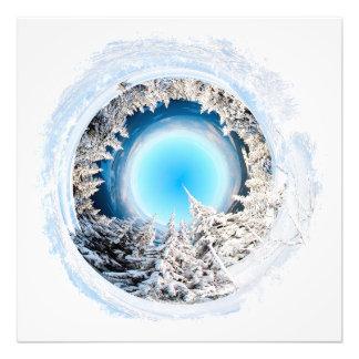 De Wereld van de winter #2 Foto Afdruk