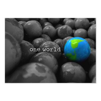 De Wereldbollen van de Aarde van de Bal van de gom 12,7x17,8 Uitnodiging Kaart