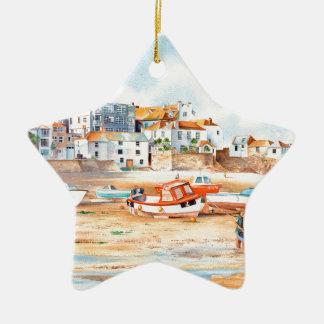 De werf St. Ives, Corwall Keramisch Ster Ornament
