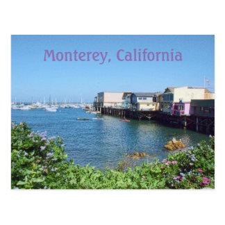 De Werf van de oude Visser, Monterey, Californië Briefkaart