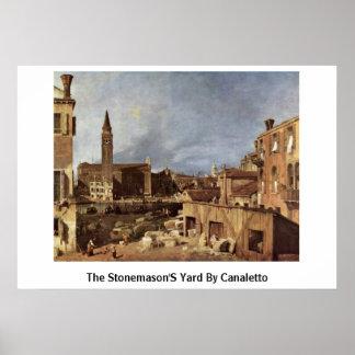 De werf van de Steenhouwers door Canaletto (ii) Poster