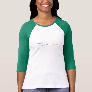 De werkgever is altijd Juiste Grappige CSS T Shirt