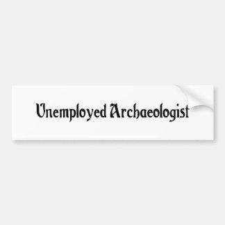 De werkloze Sticker van de Bumper van de Archeoloo
