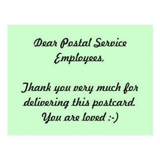 De Werknemers van de post danken u Briefkaart