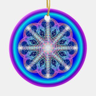 De wervelende Draaikolk/ademt Rond Keramisch Ornament