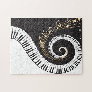 De wervelende Sleutels van de Piano Puzzel
