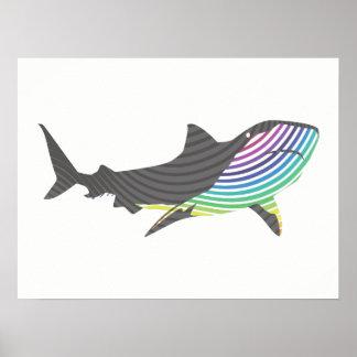 De Werveling van de Haai van de kleur Poster