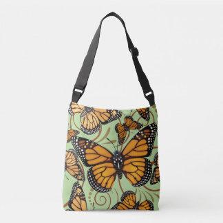 De Werveling van de Vlinder van de monarch Crossbody Tas
