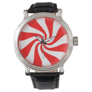 De Werveling van het Snoep van de pepermunt Horloge